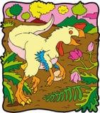 恐龙oviraptor 库存图片