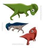 恐龙Pachycephalosaurs传染媒介例证 免版税库存图片