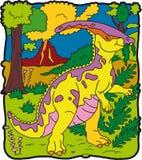 恐龙parasaurolophus 库存图片