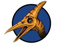 恐龙Pteranodon 草图 板刻样式 凹道例证 库存例证