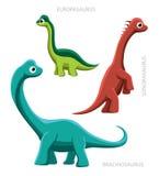 恐龙Sauropods2传染媒介例证 免版税库存图片