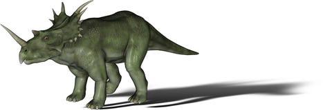 恐龙styracosaurus 免版税库存图片