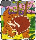 恐龙triceratopo 免版税库存照片
