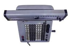 恢复古老方式打印机 库存照片