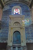 恢复在KoÅ ¡冰的被毁坏的正统犹太教堂在Zvonà ¡ rska街道上 免版税图库摄影
