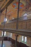 恢复在KoÅ ¡冰的被毁坏的正统犹太教堂在Zvonà ¡ rska街道上 免版税库存照片