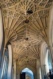 巴恩修道院走廊曲拱 免版税库存图片