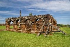 恩卡纳西翁和阴险的人废墟在巴拉圭 免版税库存照片