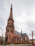 贝恩哈德教会在卡尔斯鲁厄,德国 免版税库存照片