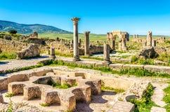 巴恩废墟在古城Volubilis -摩洛哥 图库摄影