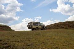 恩戈罗恩戈罗保护区风景和野生生物 库存图片