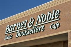 巴恩斯和高尚的书店 免版税库存照片