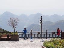 恩施中国大峡谷 旅行在湖北,恩施市,中国 免版税库存图片