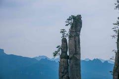 恩施大峡谷山风景 免版税库存图片