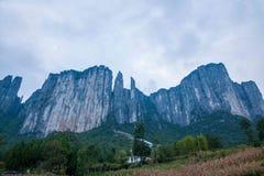 恩施大峡谷风景 免版税库存图片