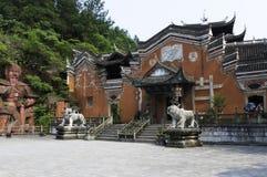 恩施Tusi城堡(前面) 免版税库存照片