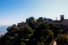 恩纳,西西里岛,意大利堡垒  免版税库存照片