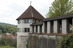 恩金老镇在德国 库存图片