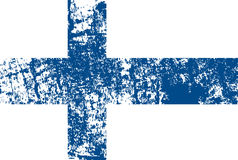 恰当地导航Finlnland旗子在oficcial颜色,比例的 芬兰的国庆节传染媒介例证 芬兰 库存照片