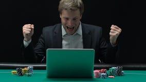 恳切地高兴在赢取的激动的人大款项在网上赌博娱乐场 股票录像