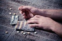 恶习药物 库存照片