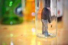 恶习,酒精中毒 概念 免版税库存照片
