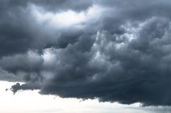 恶劣天气灰色织地不很细暴风云,雷暴边缘覆盖 库存图片