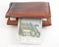 恶劣的厚实的钱包 免版税库存图片