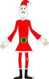 恶劣的圣诞老人 库存图片