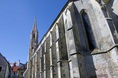 恶劣的Clares,布拉索夫, Slovaki的教会 库存图片