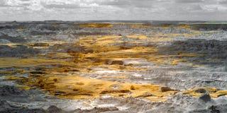 恶地国家公园,红外线 南达科他 库存照片