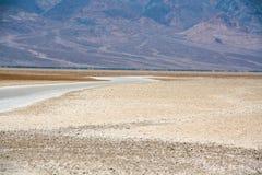 恶水盆地,死亡谷美好的风景  库存图片