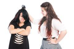 恶霸女孩劫掠的头发 库存图片
