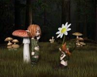 恶鬼情人节在森林里 免版税库存图片