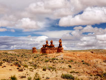 恶鬼谷岩石,国家公园犹他 免版税库存图片
