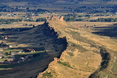 恶魔中坚鸟瞰图,一条普遍的供徒步旅行的小道在Loveland,科罗拉多 免版税图库摄影