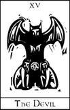 恶魔占卜用的纸牌 免版税库存照片