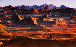 恶魔城市在新疆中国 免版税库存照片