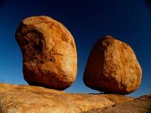 恶魔大理石红色岩石 库存图片