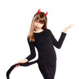 恶魔女孩 免版税库存图片