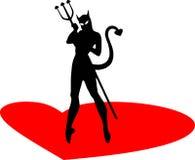 恶魔妇女 免版税图库摄影