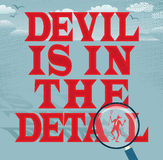 恶魔是在细节摘要企业系列 库存图片