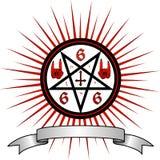 恶魔标志 皇族释放例证
