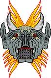 恶魔样式纹身花刺 皇族释放例证