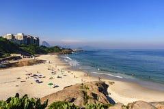 恶魔海滩, Ipanema,里约热内卢 免版税库存图片