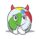 恶魔球字符动画片样式 免版税库存图片