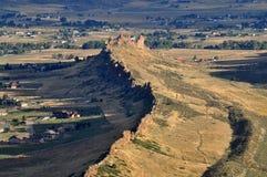 恶魔的中坚的鸟瞰图在Loveland, CO 免版税库存照片