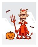 恶魔的例证为万圣夜的假日 devi 库存图片