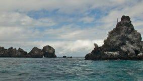 恶魔的冠在弗雷里安纳岛,加拉帕戈斯群岛 库存照片