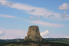 恶魔的塔风景 库存照片